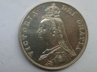 1887 Victoria Jubilee Silver Double FLORIN Coin
