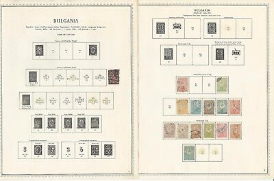 Bulgaria Collection 1879 to 1970 on Minkus Specialty Pages, 130 Pages