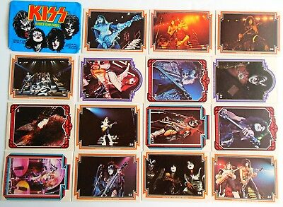 Lot of 15 Kiss Cards & 1 Wrapper 1978 Donruss Series 1 Trading Cards Bubble CC