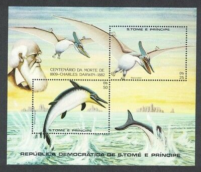 Sao Tome Dinosaurs and Prehistoric Animals Darwin MS SC#670