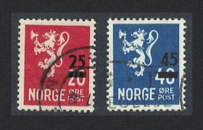 Norway Arms Overprinted 2v Cancelled SG#400-401