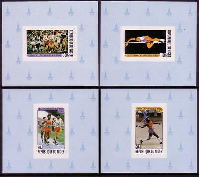 Niger Summer Olympics Moscow 1980 4v Deluxe SG#797-800 MI#695-698