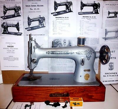 Superb Industrial Singer 31-15 sewing machine,entirely refurbished,+ bonus,1938