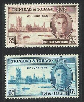 Trinidad and Tobago World War II Victory 2v Flaw SG#257-258