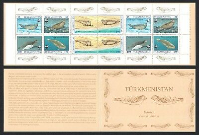 Turkmenistan WWF Caspian Seal Booklet English Text SG#32-37 SC#35-40 MI#30-35