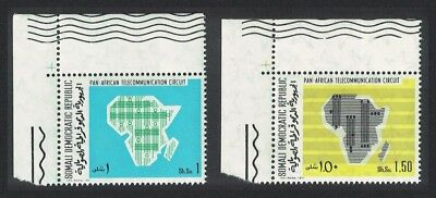 Somalia Pan-African Telecommunications Network 2v Top Left Corners SG#527-528
