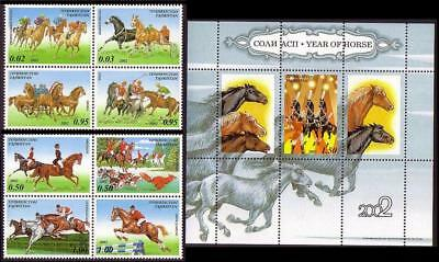 Tajikistan Year of the Horse 8v+MS SG#205-MS213