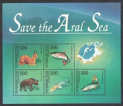 Tajikistan Animals Fish - Save the Aral Sea MS SG#MS89