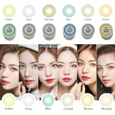 New Lady Women Cosmetic Contact Lenses Circle Big Eyes Makeup Beauty Yearly Use