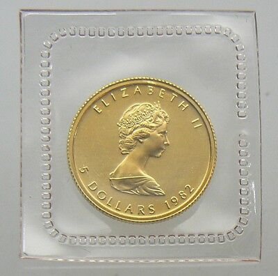 1982 Canada $5 1/10 oz Gold Maple Leaf .9999 PURE Sealed in Mint Plastic