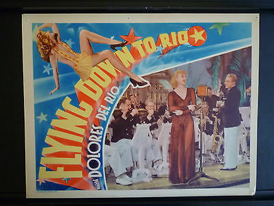1933 Flying Down To Rio - Ginger Rogers - Rare Ex Con Vintage Lobby Card Musical