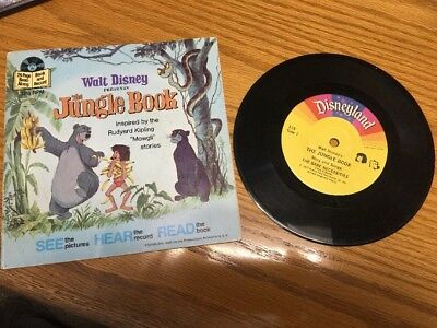 1977 Walt Disney Presents The Jungle Book &  Record