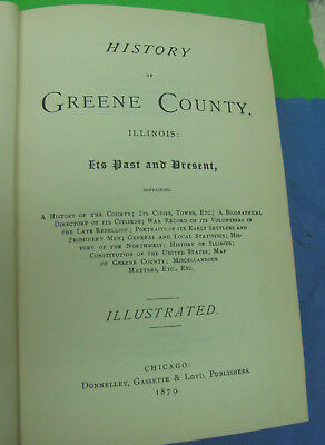 Book: History Of Greene County Illinois  Illustrated; 1879