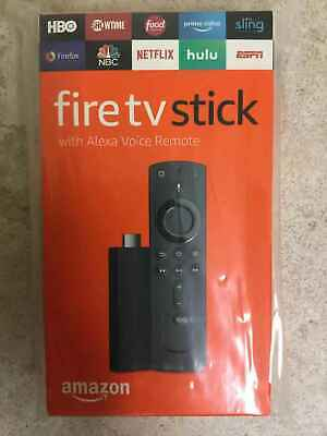 Brand New Amazon Fire TV Stick w/Alexa Voice Remote 2nd Generation Black