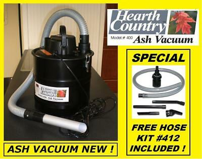 HEARTH COUNTRY Ash Vacuum Pellet Stove Fireplace Vac NEW! Woodstove