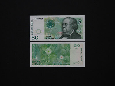 NORWAY BANKNOTES BRILLIANT 50 KRONER  - p46  2011  QUALITY NOTE IN BEST MINT UNC