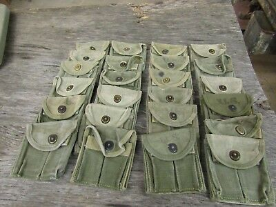 WWII US Military M1 carbine ammo pouch original green WWII dated