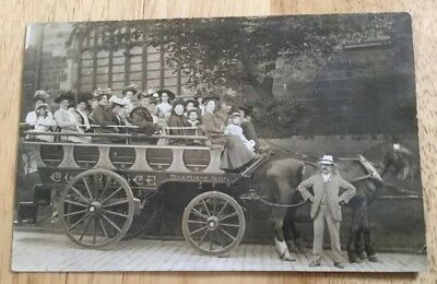 Gb Unidentified Horse Drawn Cab.rp Postcard.clarence Telephone 111.