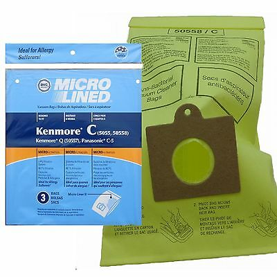 Kenmore Vacuum Bags 5055 50557 50558 Type C MPN 433934 By DVC in the USA