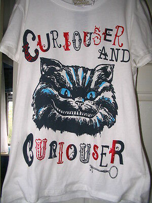 Disney Store Cheshire Cat T Shirt Alice In Wonderland Sizes 12 14 16 Brand New