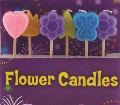 Flower Candles Birthday Cake Candles Butterfly Heart Girls Birthday Party Pink