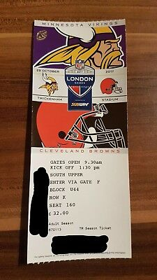nfl london twickenham 2 tickets vikings vs browns 29 oktober 2017 eur 140 00 picclick de. Black Bedroom Furniture Sets. Home Design Ideas