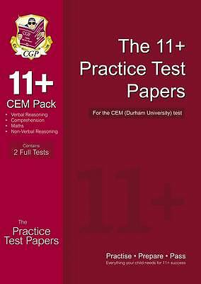 11+ Practice Test Papers for the Cem Test by CGP Books Please Read Description