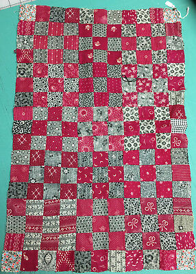 Antique Doll Size Quilt Top Unfinished 9-Patch 1875