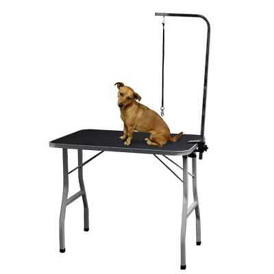 Pet, Dog/Cat Grooming Table with Leash Attachment