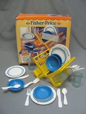 Fisher Price Fun With Food Family Dinnerware Complete Set 4 Setting + Extras!