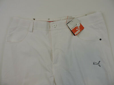 NEW Puma Men's Golf 5 Pocket Tech Pants USP Dry White 32 x 32 New with Tags!