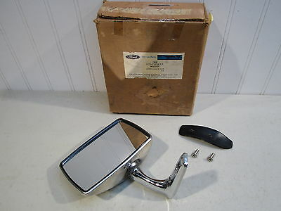 Nos 1977-1982 Ford Courier Lh Door Mirror...new In Fomoco Box