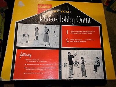 VINTAGE KODAK PHOTO HOBBY OUTFIT #615 NOS Missing Developer Bottle-Never Used
