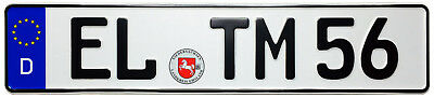 Emsland Front German License Plate by Z Plates - with Random Unique Number - NEW