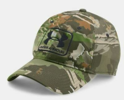 NEW Under Armour Ridge Reaper Forest (944) Hunting Stretch Fit Cap Hat SIZE L/XL