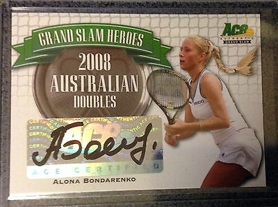 2013 ACE Authentic - Grand Slam Autograph - Alona Bondarenko - #GSH-AB2
