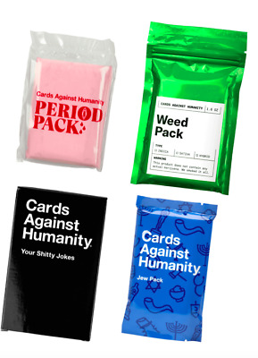 Cards Against Humanity: Period, Weed, Jew & Your S* Jokes Expansion Pack CAH New