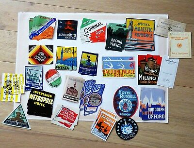 Vintage Luggage Labels + Train Tickets