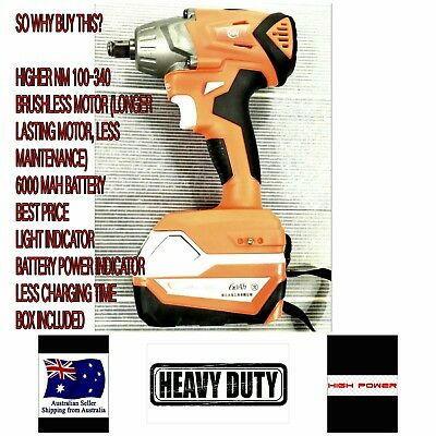 CORDLESS IMPACT WRENCH 1/2 LUGNUTS 68V FAST CHARGER automotive car