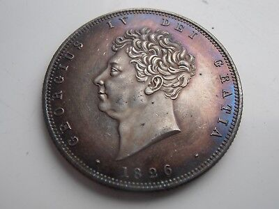 1826 William 1V Beautifully Toned Silver Plated Half Crown Restrike Coin