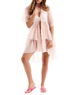 PETER ALEXANDER 'Sleep & Day' Frollic Frill Gown Pink New w Tags Size XS/S & M/L