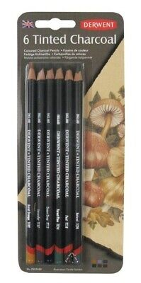 Derwent Tinted Charcoal Pencil 6pc Asst