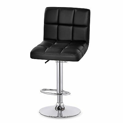 Modern Set of 2 Bar Stool Leather Adjustable Swivel Pub Chair 6-Colors