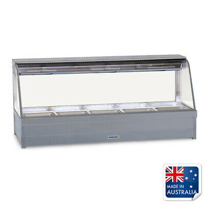 Bain Marie / Hot Food Display Curved Double Row 10x 1/2 Pans Roband C25