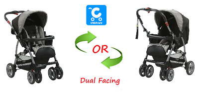 USED CHILDCARE Baby Pram Dual Facing Newborn Toddler Stroller Carrier