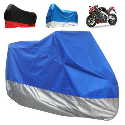 4XL Universal Waterproof  Motorcycle Bike Cover UV Wind Rain Snow Dust Protect