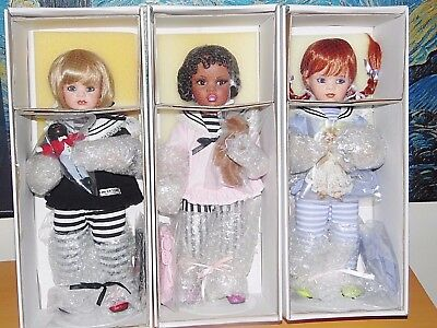 "Jan Mclean ~"" Mandy,millie & Molly "" Best Friends ~Set Of 3 ~"