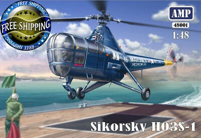 AMP (Mikro Mir) 48001 Helicopter Sikorsky H03S-1 scale plastic model kit 1/48