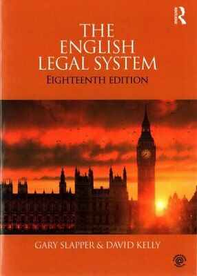The English Legal System by Gary Slapper, David Kelly (Paperback, 2017)