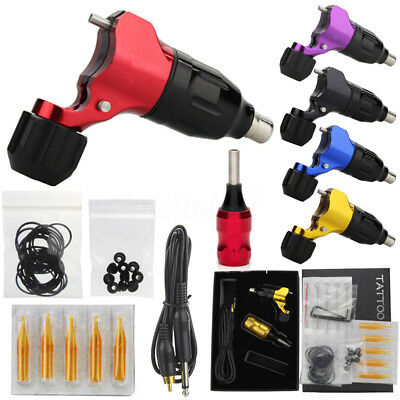 Rotary Tattoo Machine Gun Liner Shader Kit Grip + Needles + Wrench + Power Cable
